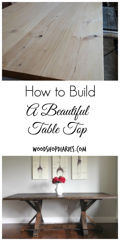 Building a table top is the easy part, deciding on a base is what's difficult!  Find out how to build a table top that will last forever and doesn't require fancy tools--Woodshop Diaries