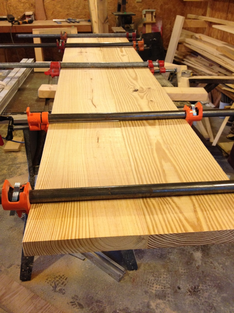 two boards clamped2