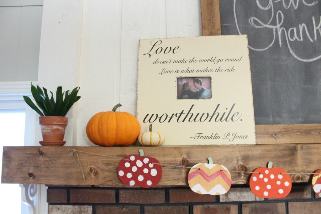 Easy Fall Pumpkin Banner--Woodshop Diaries
