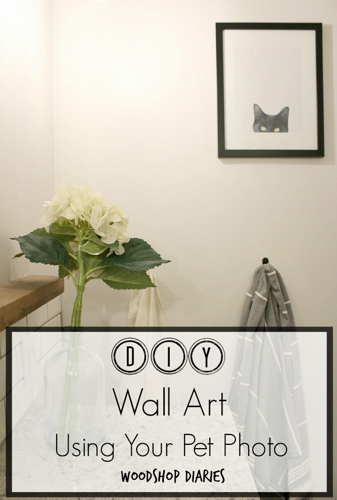 DIY Wall Art Using a Pet Photo