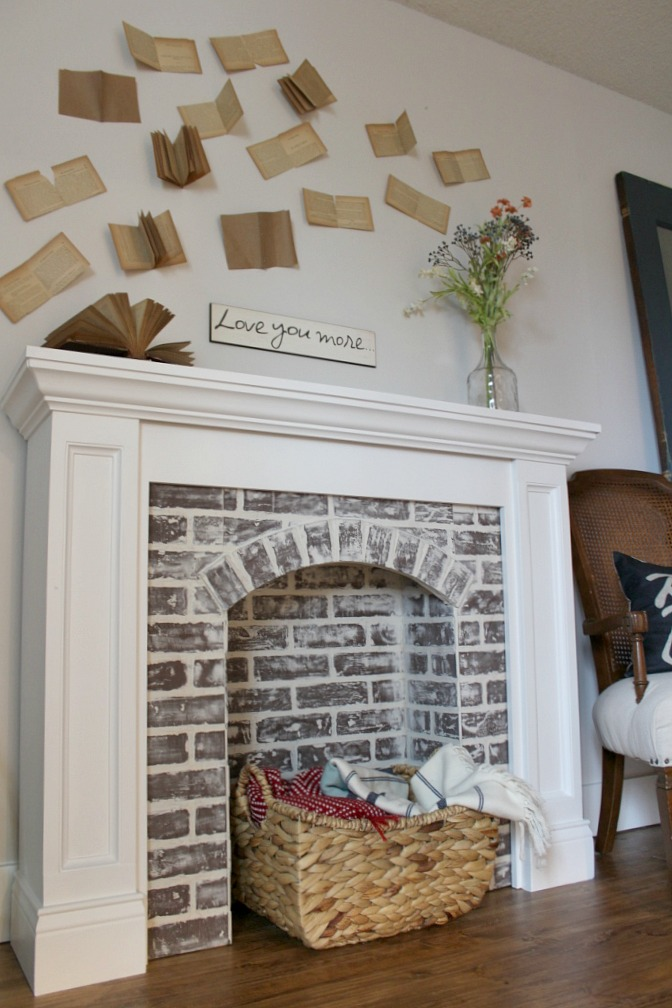How To DIY A Faux Brick Fireplace And Youll Never Believe Easy It