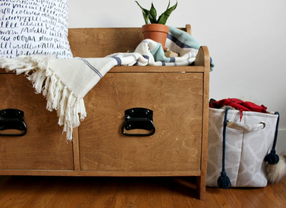 Wondrous Pottery Barn Inspired Diy Entryway Storage Bench Pabps2019 Chair Design Images Pabps2019Com