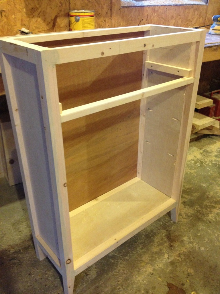 DIY Entryway Cabinet or Shoe Cabinet with a super cool door design!