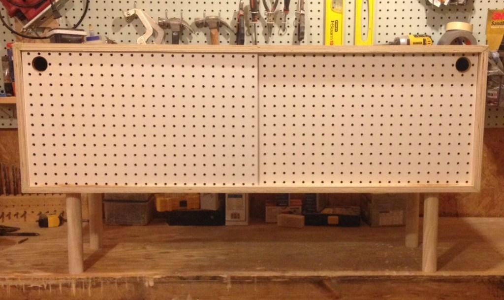 Mid Century Modern DIY Peg Board Cabinet