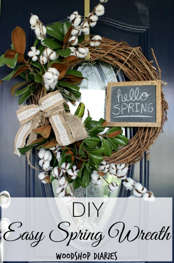 How to make a super easy DIY Spring Wreath in 5 minutes!