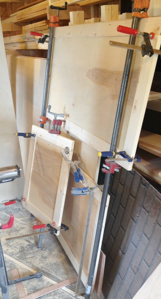 Gluing up doors for built ins