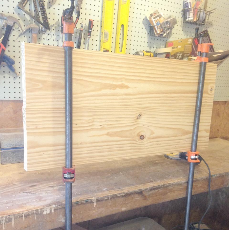 DIY Cabinet top glued up
