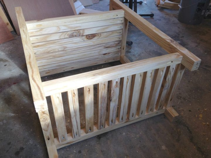 All slats installed onto bar cart