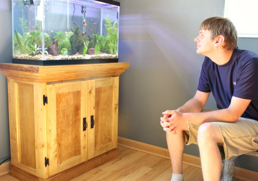 How to build an aquarium cabinet stand the start of a man for How to build a large fish tank