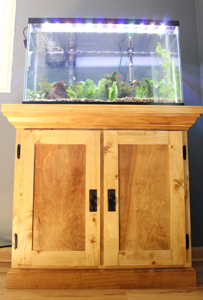 How to Build an Aquarium Cabinet Stand --Free Building Plans!
