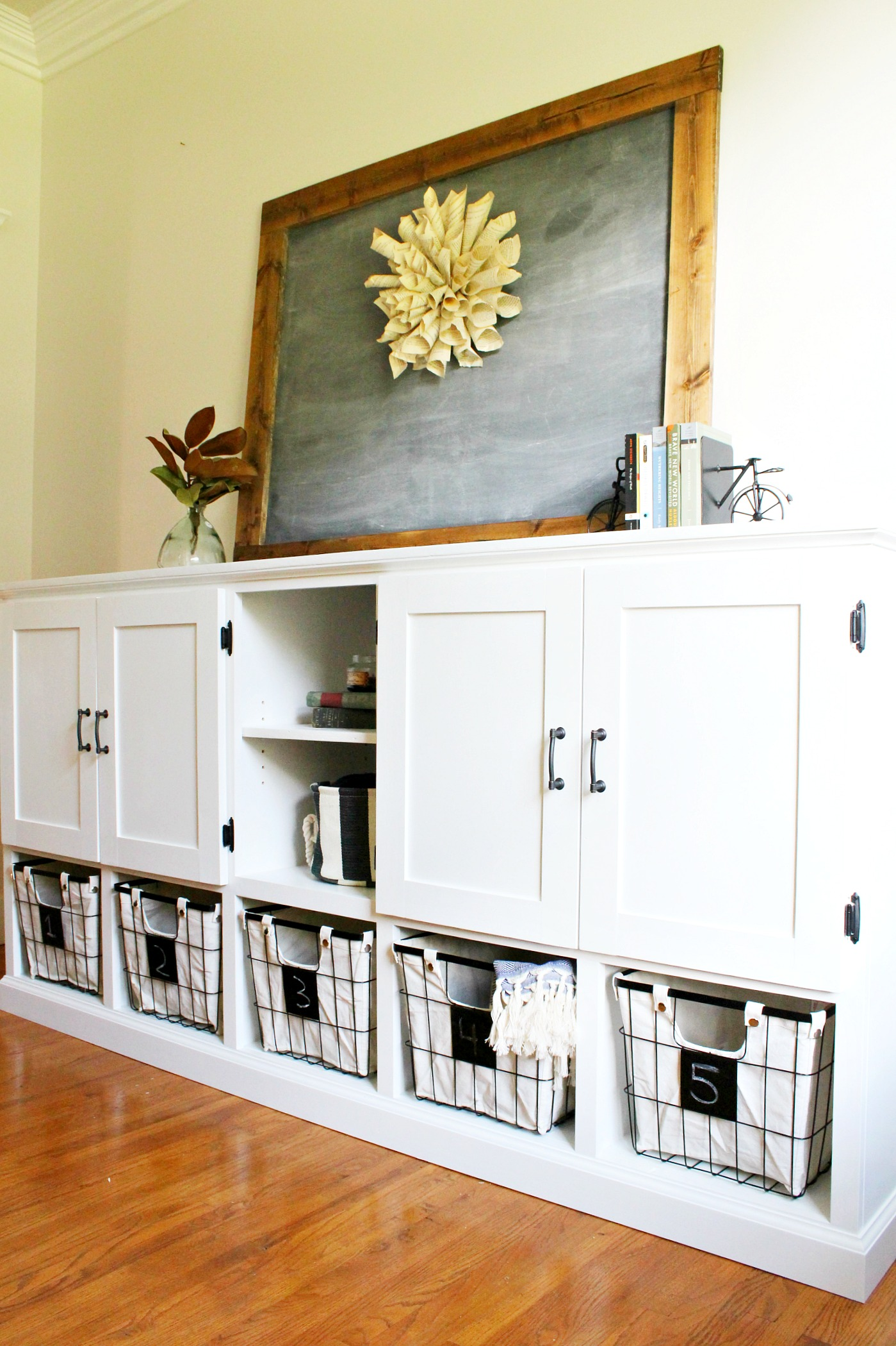 Diy Storage Console With Cabinets, How To Build Storage Cabinets For Living Room