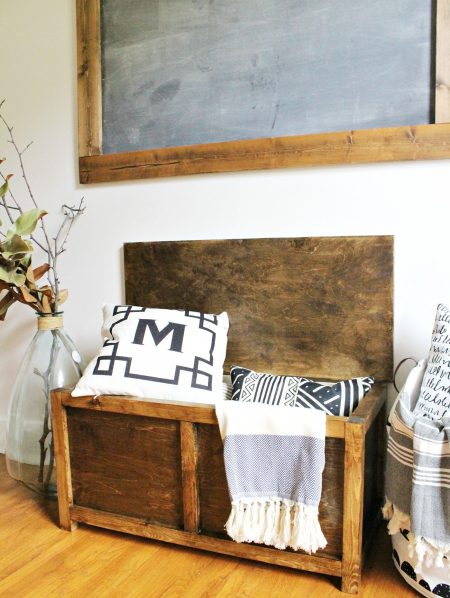 How to Build a Simple DIY storage chest for toys, blankets, and keepsakes