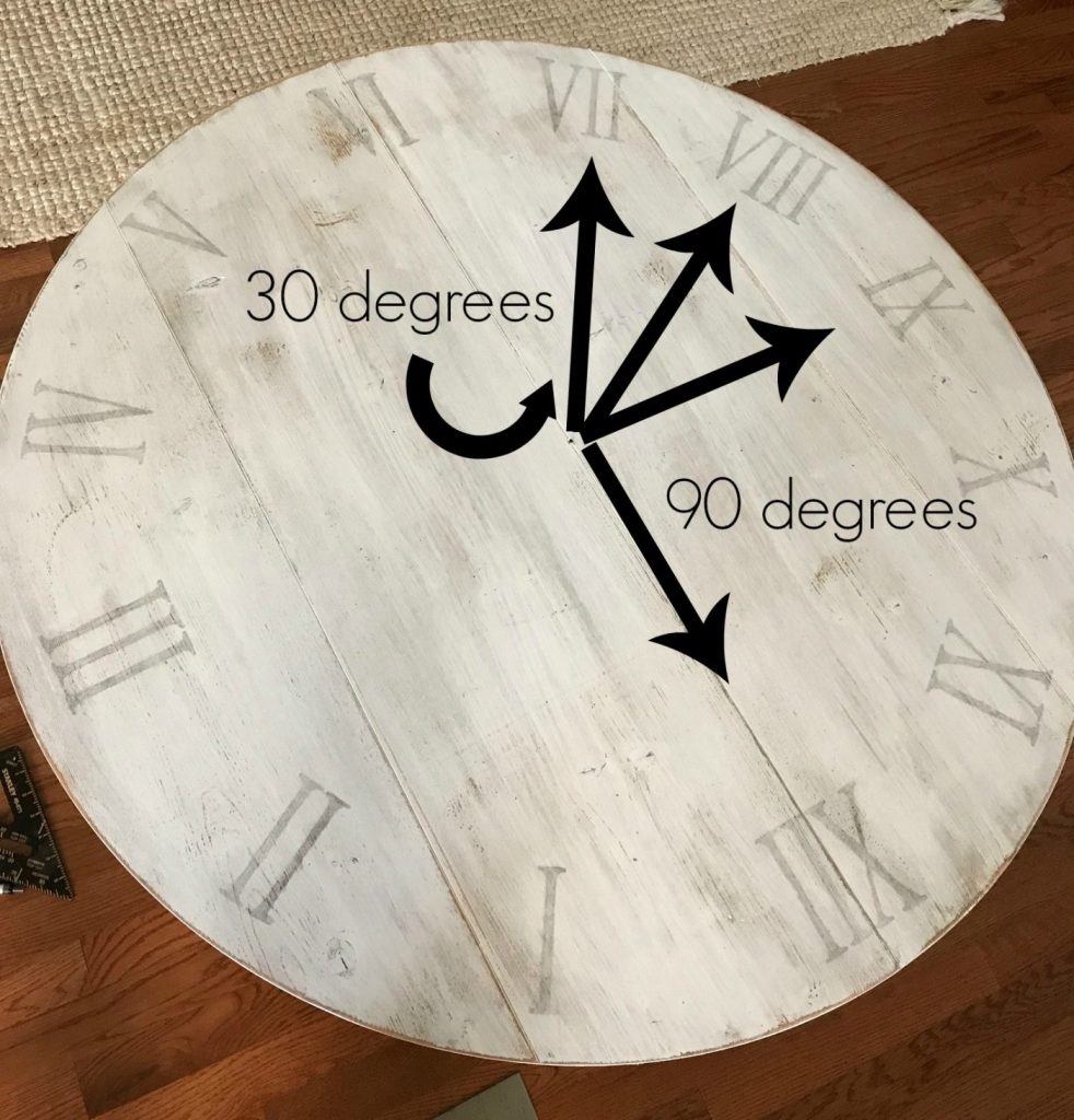 How to make a diy wooden wall clock add numbers to diy rustic wood wall clock amipublicfo Image collections