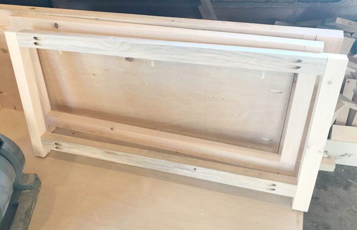 DIY Storage Chest Frame assembled
