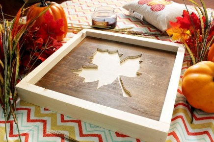 How to make a super easy DIY scrap wood fall sign