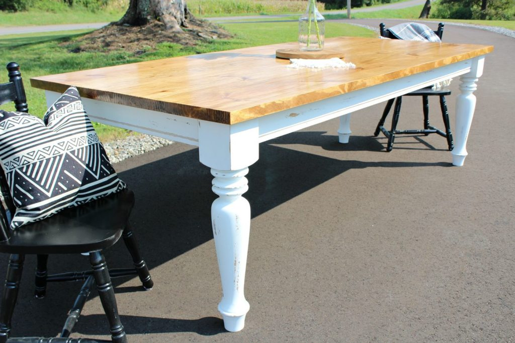 how to build your own diy farmhouse dining table minwax early american top and - Farmhouse Kitchen Table