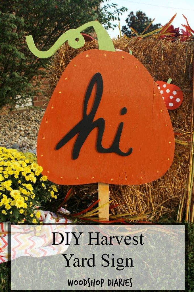 DIY Harvest Yard Sign Virtual Party--How to make this harvest yard sign