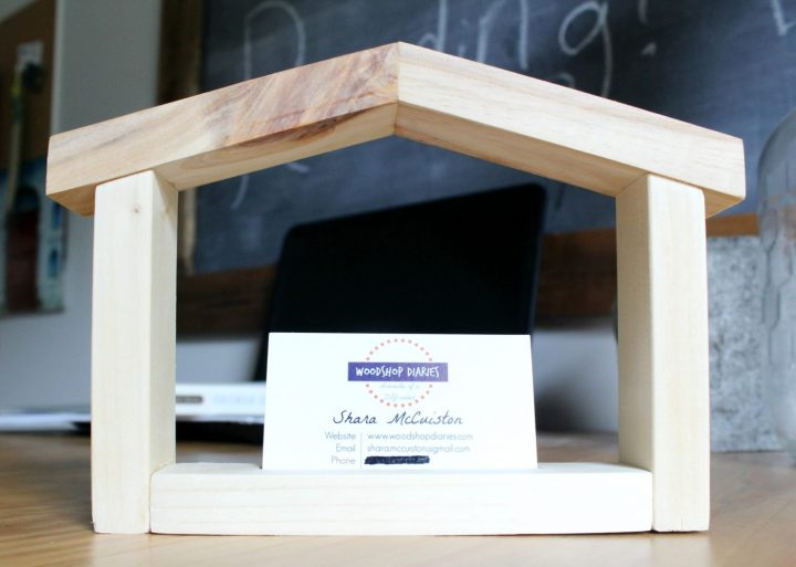 How to make a house shaped business card holder