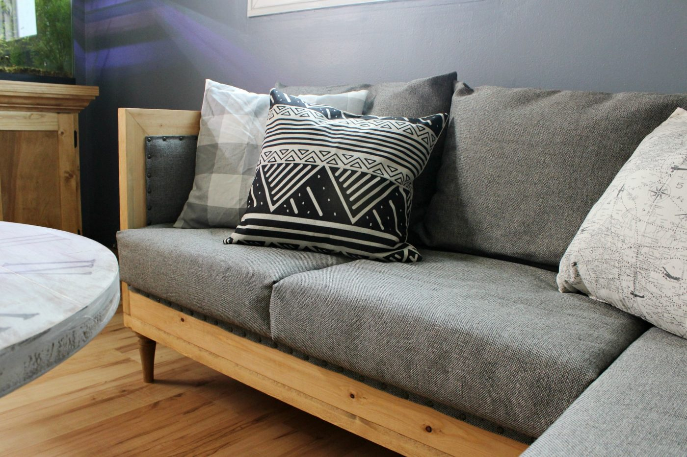 DIY Couch close up | Woodshop Diaries