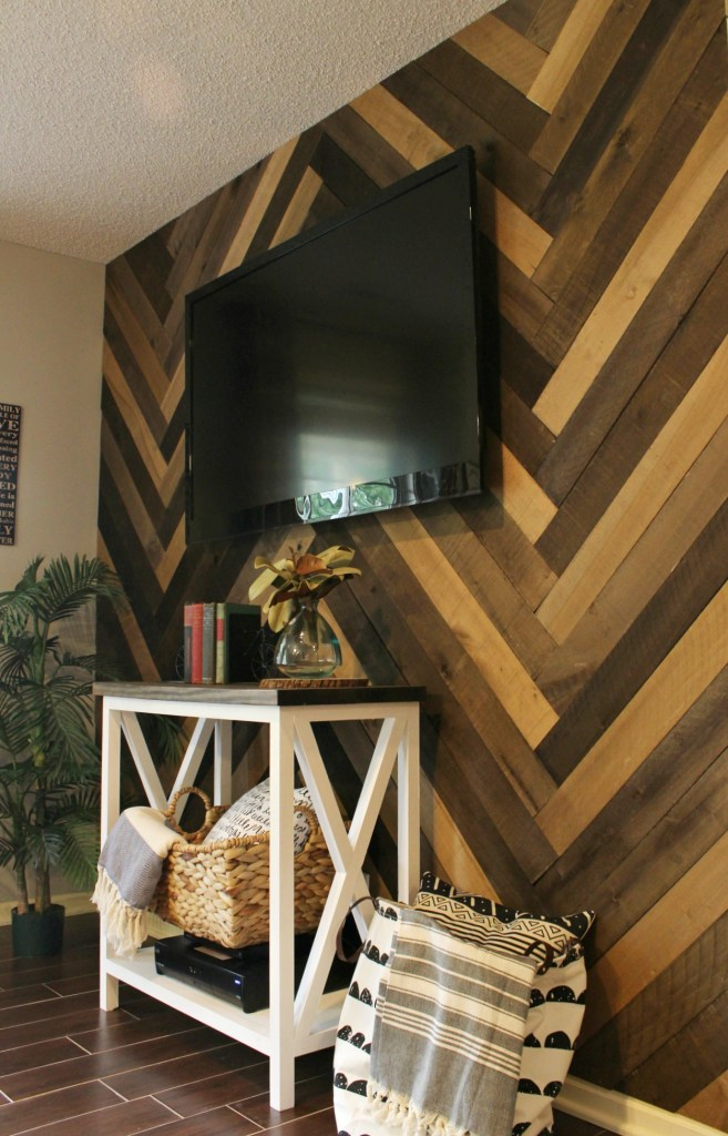 How to Install a Herringbone Barn Wood Wall