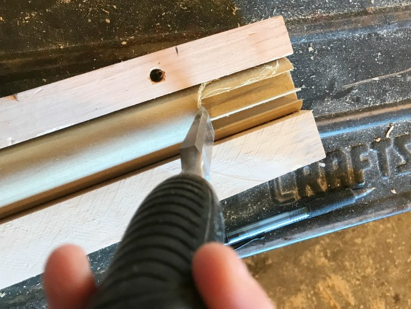 chisel out mid century modern furniture leg
