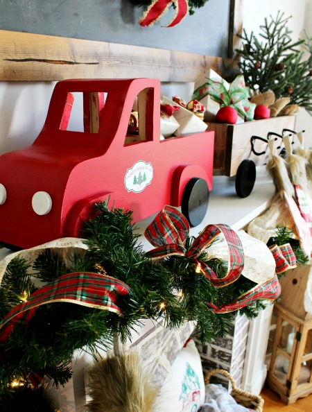 How to build a DIY wooden truck and trailer DIY christmas stocking hanger box