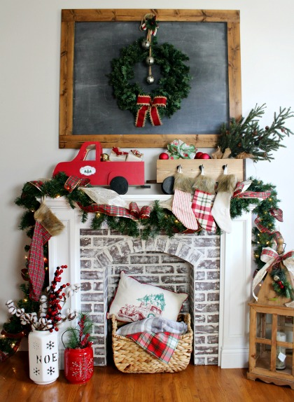 Diy christmas stocking hanger box dih workshop virtual party diy stocking holder box diy christmas truck and trailer decoration you can make yourself solutioingenieria Image collections