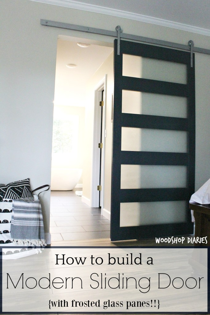 How to build a DIY modern sliding door with frosted glass