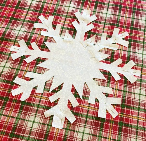 DIY Snowflake Pillow Cover
