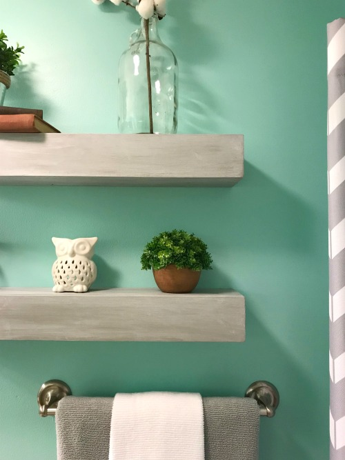 DIY Floating Shelves built like you haven't seen before! These easy to build floating shelves have invisible seams!