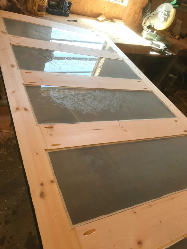 how to build a sliding door frame