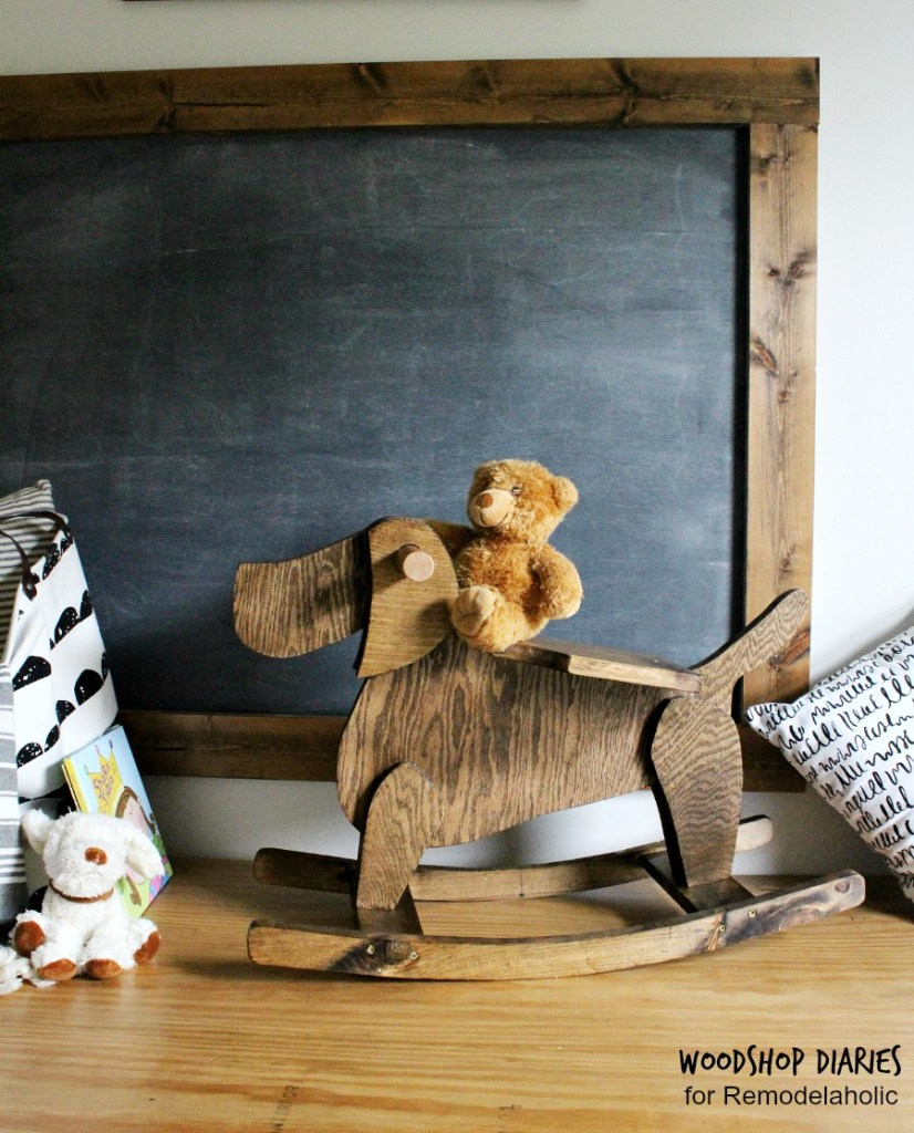 How to build a kids rocking horse that's shaped like a dog--super cute diy kids toy tutorial