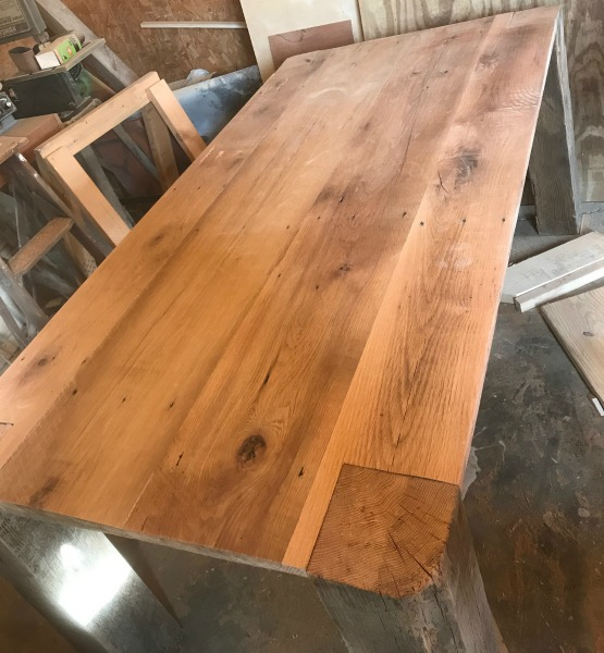 DIY Barn Wood TableFrom Tobacco Barn To Dining Table - Salvaged wood table top