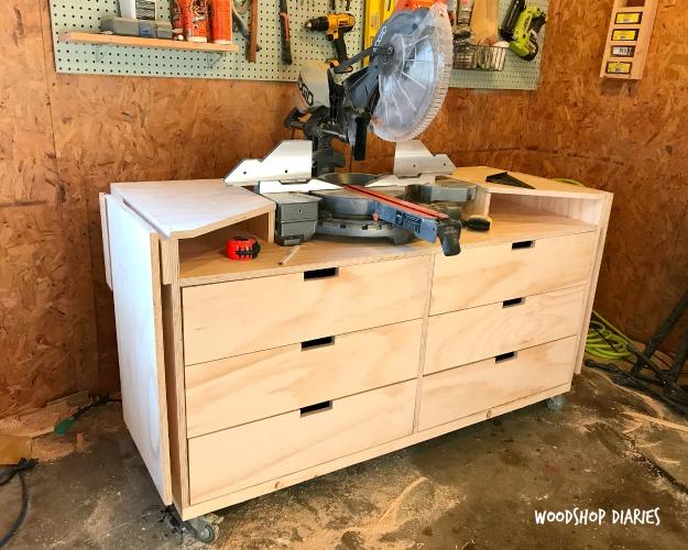 Used Look Möbel Diy ~ Diy mobile miter saw stand