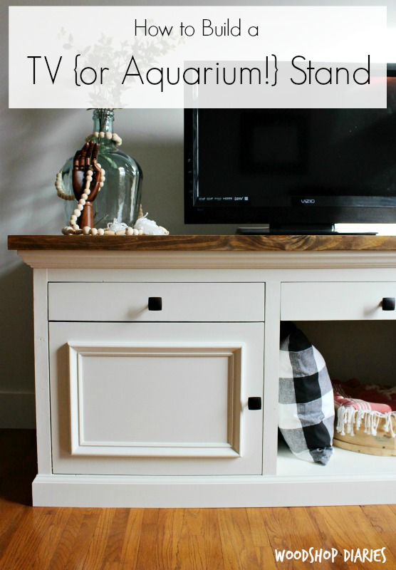 Pin By Mallikarjuna On T V Cabinet: How To Build A TV {or Aquarium!} Stand
