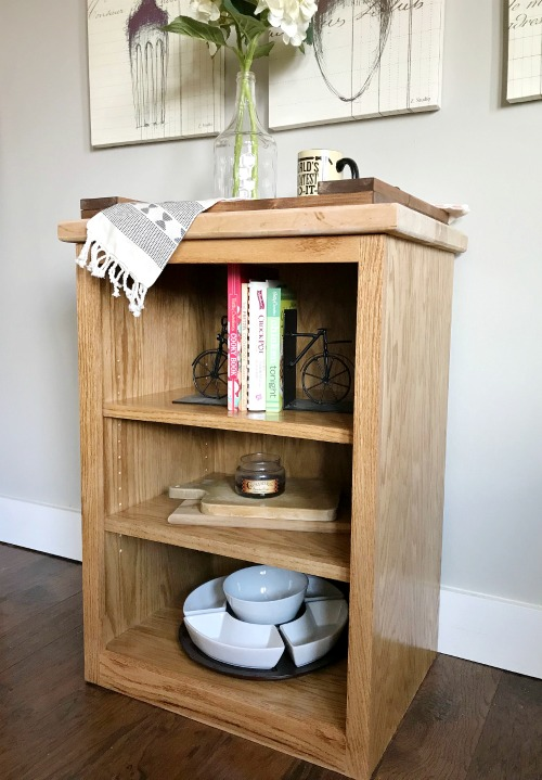 How to Build a Small Simple DIY Bookshelf--free woodworking plans
