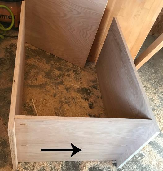 Assemble the DIY shelf cabinet carcass