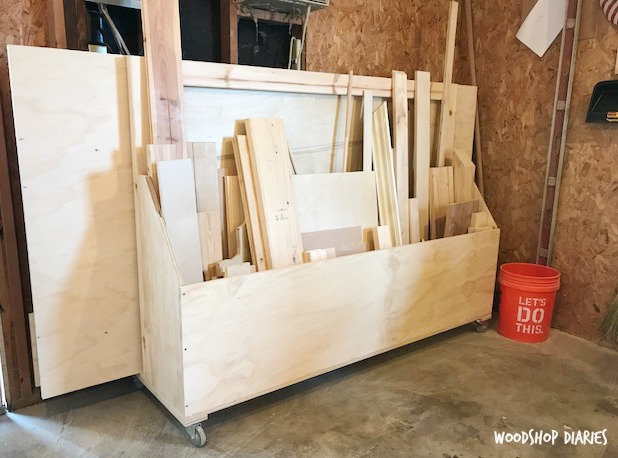 How To Build A Mobile Plywood Storage And Scrap Wood Shop Cart