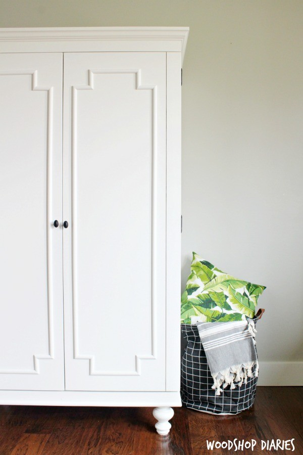 how to build a diy wardrobe armoire storage cabinet with. Black Bedroom Furniture Sets. Home Design Ideas