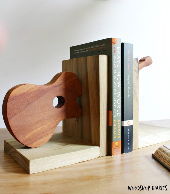 DIY Guitar Bookends--And Easy and Quick Scrap Wood Project