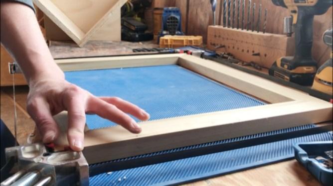 gluing up keepsake box top lid frame