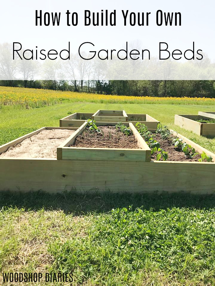 How to Build Your Own DIY Raised Garden Bed--Video and step by step tutorial--Build a garden in a couple hours! Great beginner project!