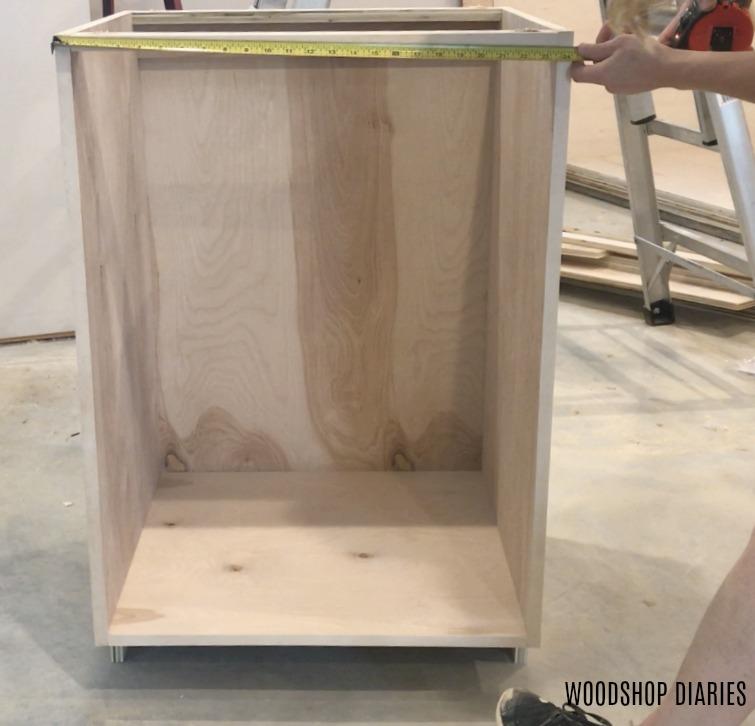 Measure for DIY Kitchen Cabinet doors - Woodshop Diaries on