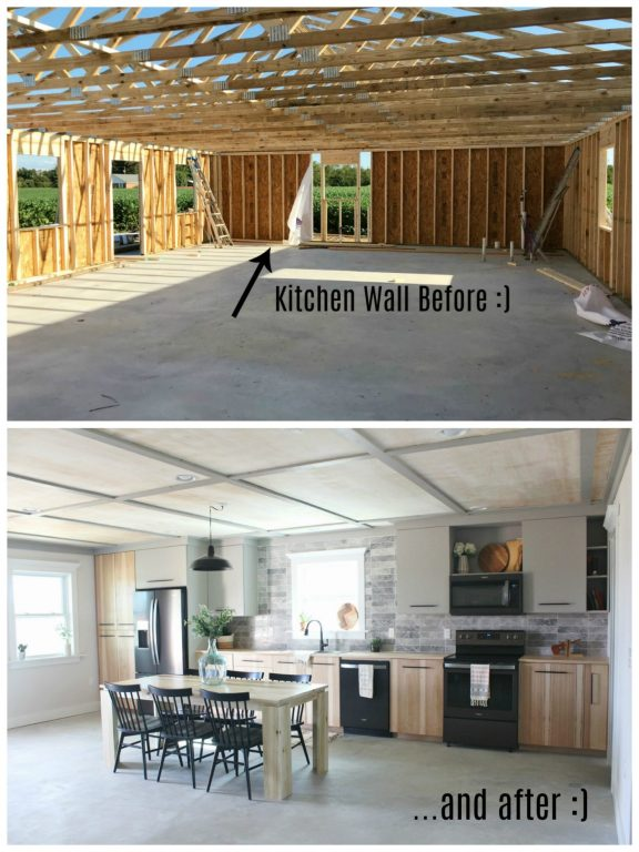 Kitchen renovation challenge before and after