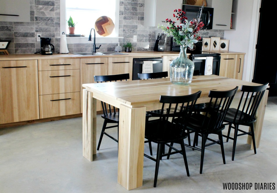 DIY Contemporary Dining Table Made From Poplar