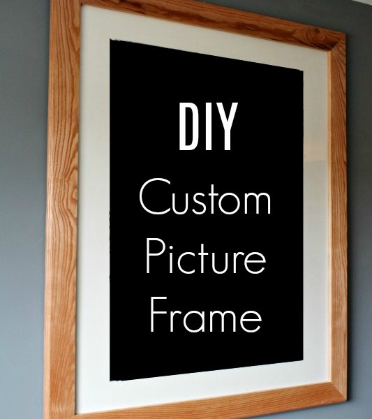 How to make your own Custom DIY Picture Frame for any size picture or print you want to frame. Save hundreds by making your own with these plans!