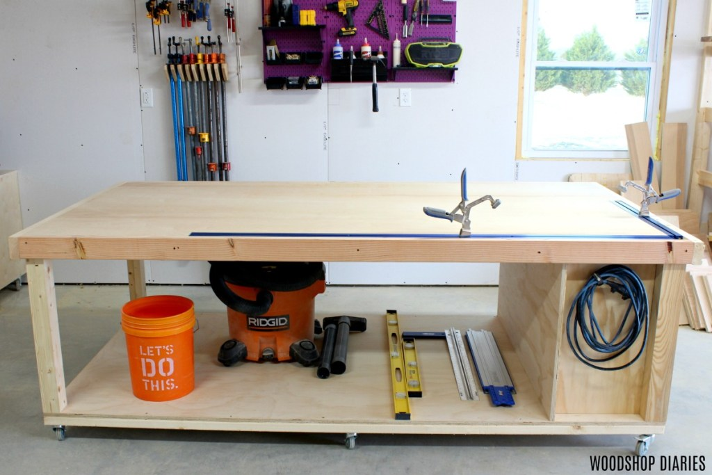 Admirable How To Build A Diy Mobile Workbench 3 In1 Storage Outfeed Pabps2019 Chair Design Images Pabps2019Com