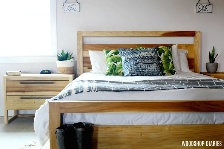 . How to Build Your Own DIY Modern Bed  Free Tutorial and Video