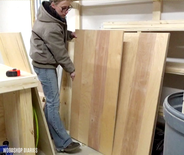 Pick lumber for DIY storage bench