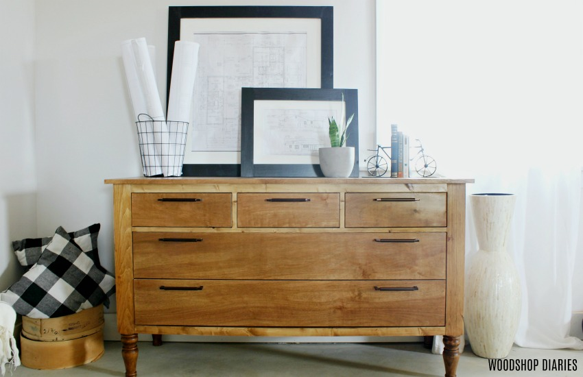 DIY Dresser with five drawers